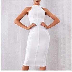 White Structured Dress